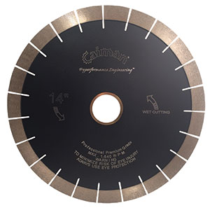 New Product - Caiman® Super Premium Silent Core 25mm Diamond Array Bridge Saw Blade