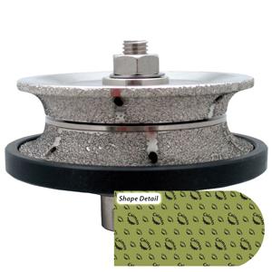 Caiman® Vacuum Brazed Router Bit - V (Full-Bullnose)