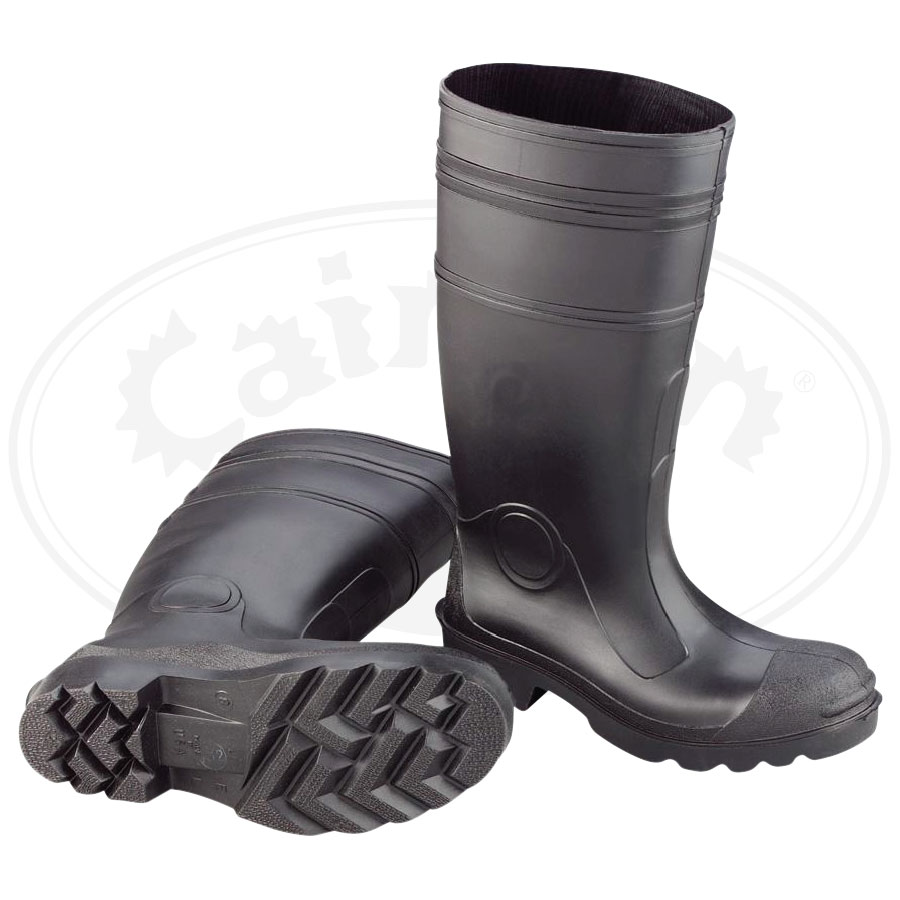 Black PVC Boot (Plain Toe)