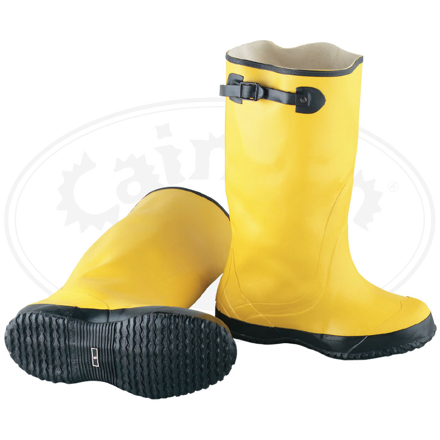 Yellow Rubber Slicker Over The Shoe Boot