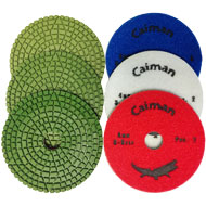 "4"" Super Prem. 3-Step Wet Polishing Pad, 4mm"