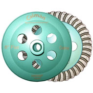 "6"" Flat Green Super Prem. Turbo Cup Wheel"
