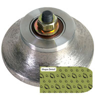 Sintered Router Bit - T (Double Eased)